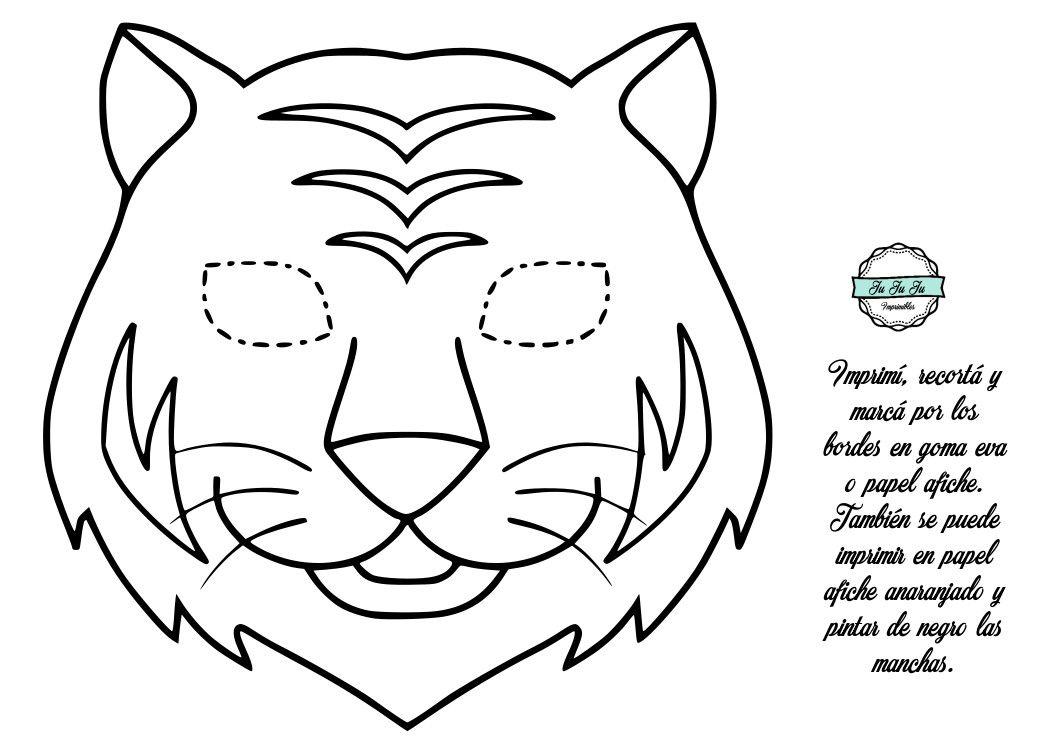 Mascara De Tigre Mascara De Tigre Tigre Para Pintar Tigre