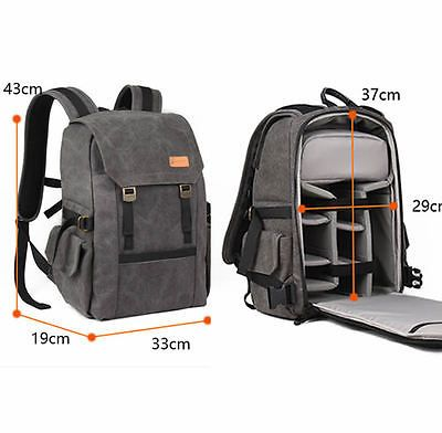 YCUTE Multi-Function Backpack Canvas Waterproof Camera Bag Outdoor Wear-Resistant Photography Backpack for Digital SLR Camera Bags,C