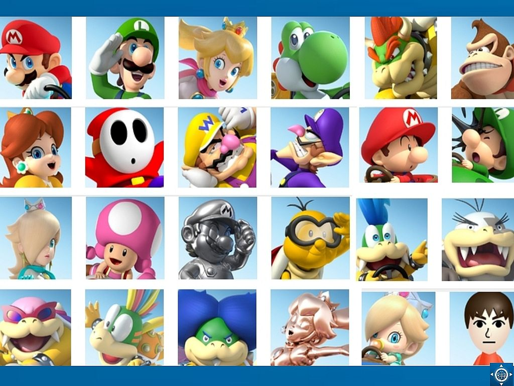 mario kart 8 character roster
