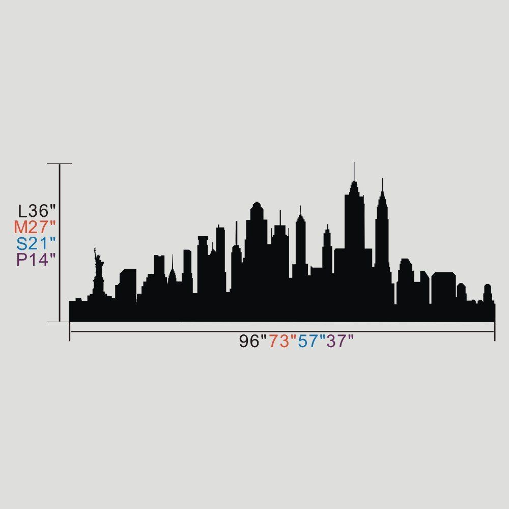 Vinyl New York Wall Sticker New York City Decal New York Skyline