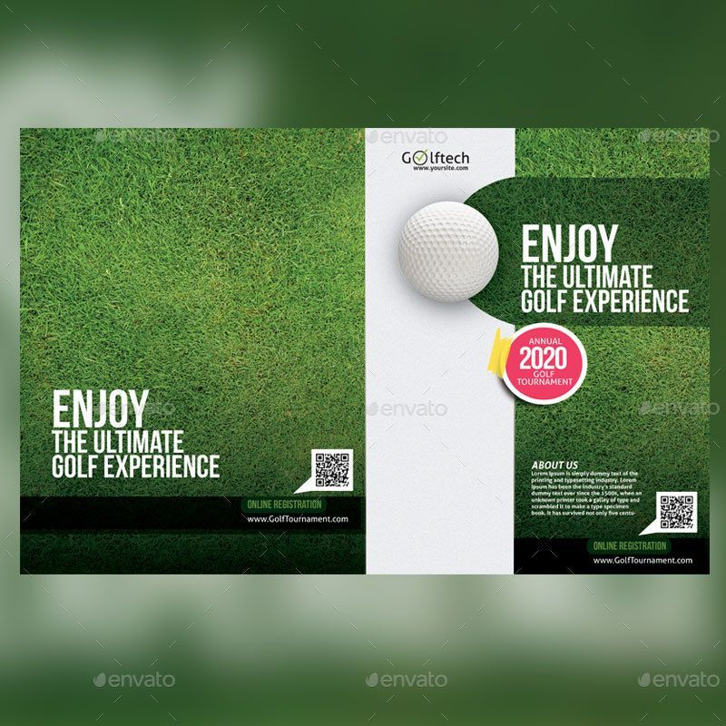 Golf Tournament Brochure by Designcrew GraphicRiver