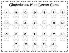 Gingerbread Man Alphabet Literacy Center {FREEBIE} (With