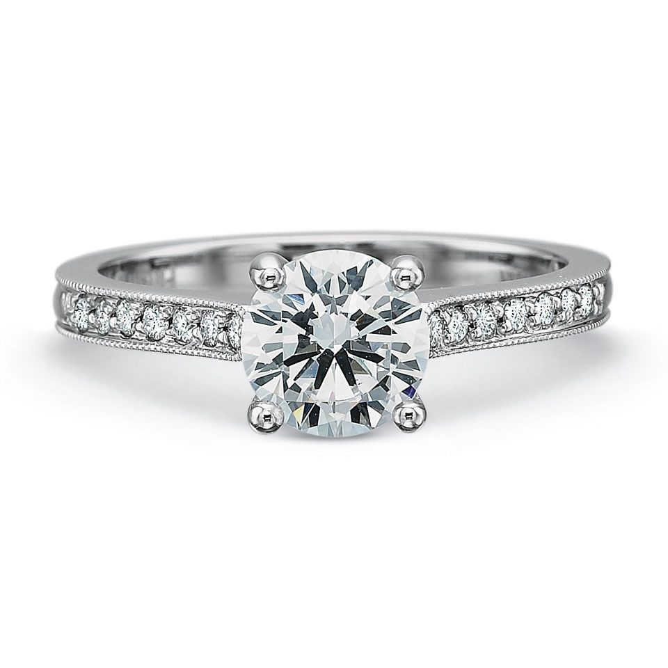 #PrecisionSet Flush Fit 18K #WhiteGold & #Diamond Semi