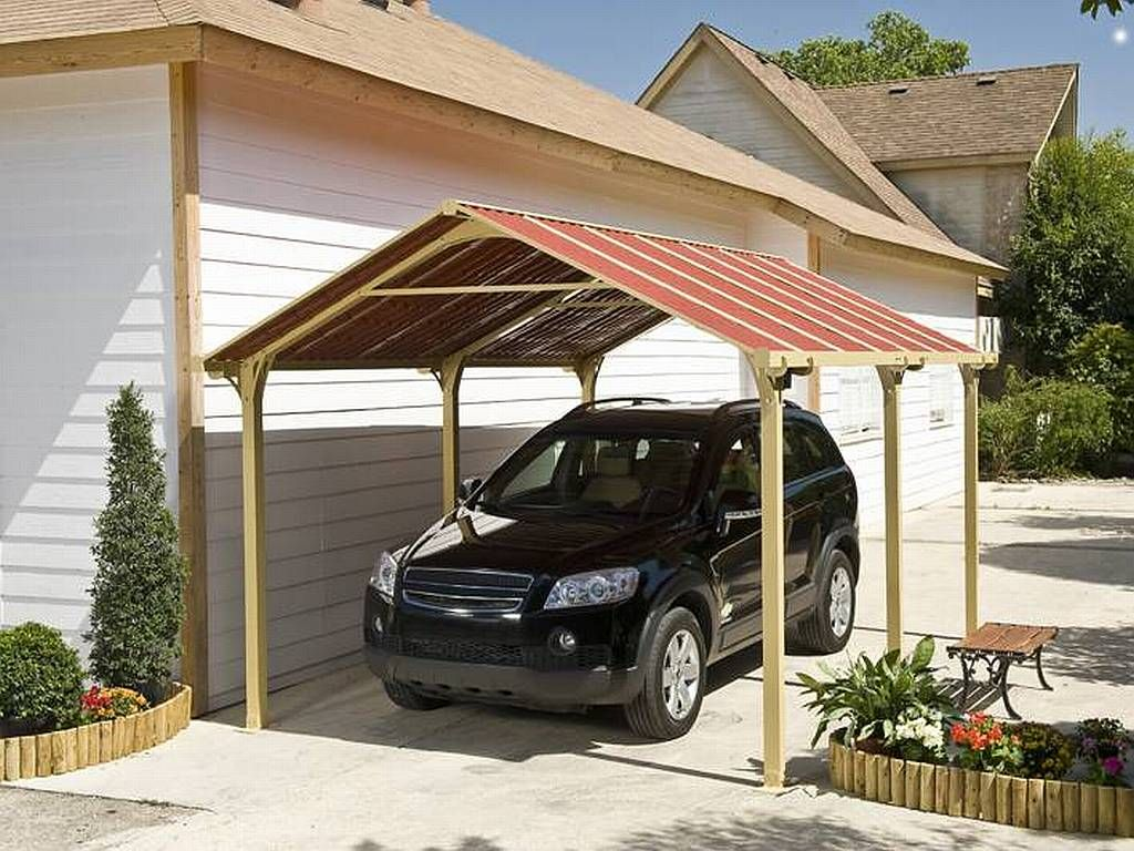 Carport carports pinterest carport garage and house for Garage and carport