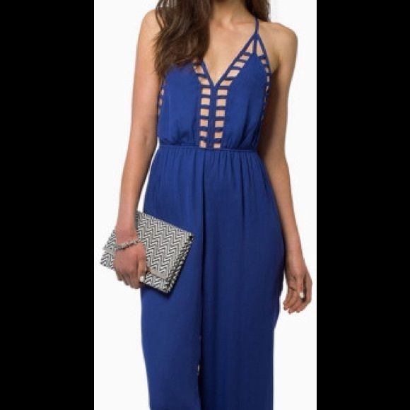 Tobi Callie cami jumpsuit Blue Tobi jumpsuit size Xs never worn still has tags on Tobi Tops Camisoles