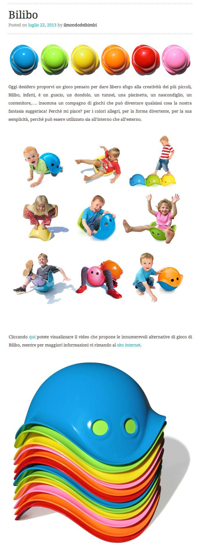 Great review from a very beautiful and stylish Italian blog: www.ilmondodeibimbi.wordpress.com/2013/07/22/bilibo #bilibo #italy #design #toy