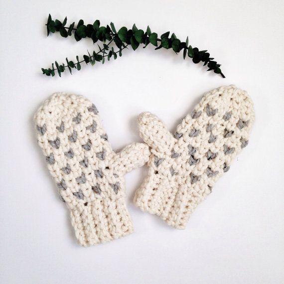 winter crochet patterns / Crochet mitten pattern / crochet pattern ...