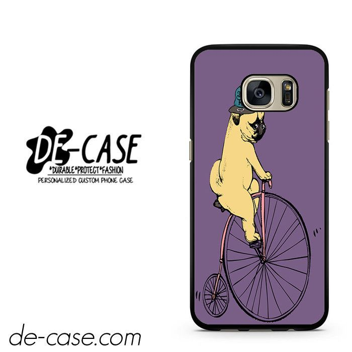 Pug Ride Riding Bike DEAL-8966 Samsung Phonecase Cover For Samsung Galaxy S7 / S7 Edge