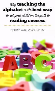 Why teaching the alphabet is the single best way to set your child up for reading success
