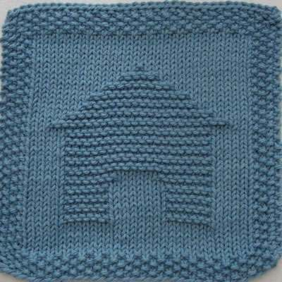 Doghouse Knit Dishcloth Knit Dishcloth Pinterest Knitted