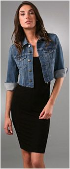 How to wear Jackets over dresses. BLOG. Crop Jean Jacket | STYLE ...