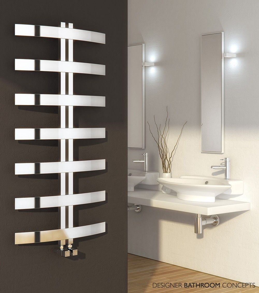 Reina Riesi Chrome Designer Towel Rail 1200 x - Chrome Towel Rails - Towel  Rails - Heating