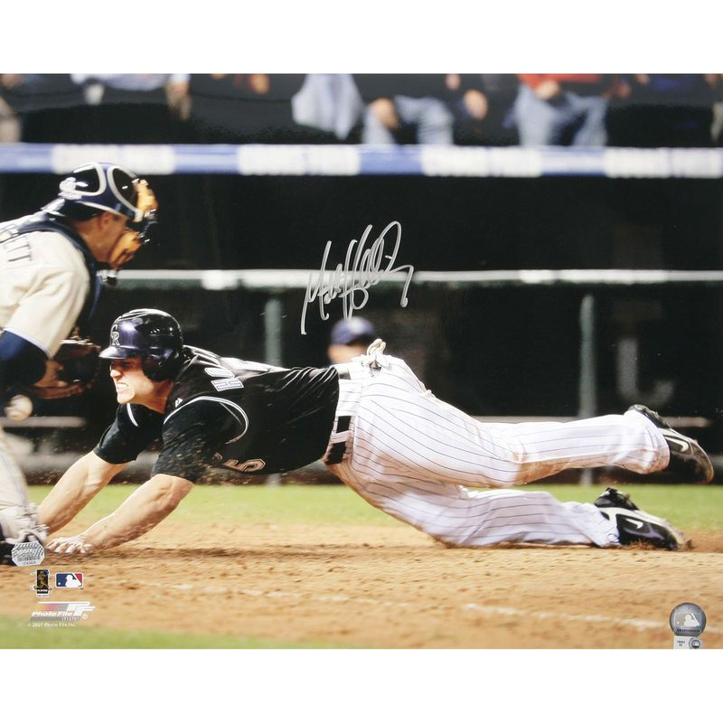 "Matt Holliday Colorado Rockies Fanatics Authentic Autographed 16"" x 20"" Homeplate Slide Photograph"