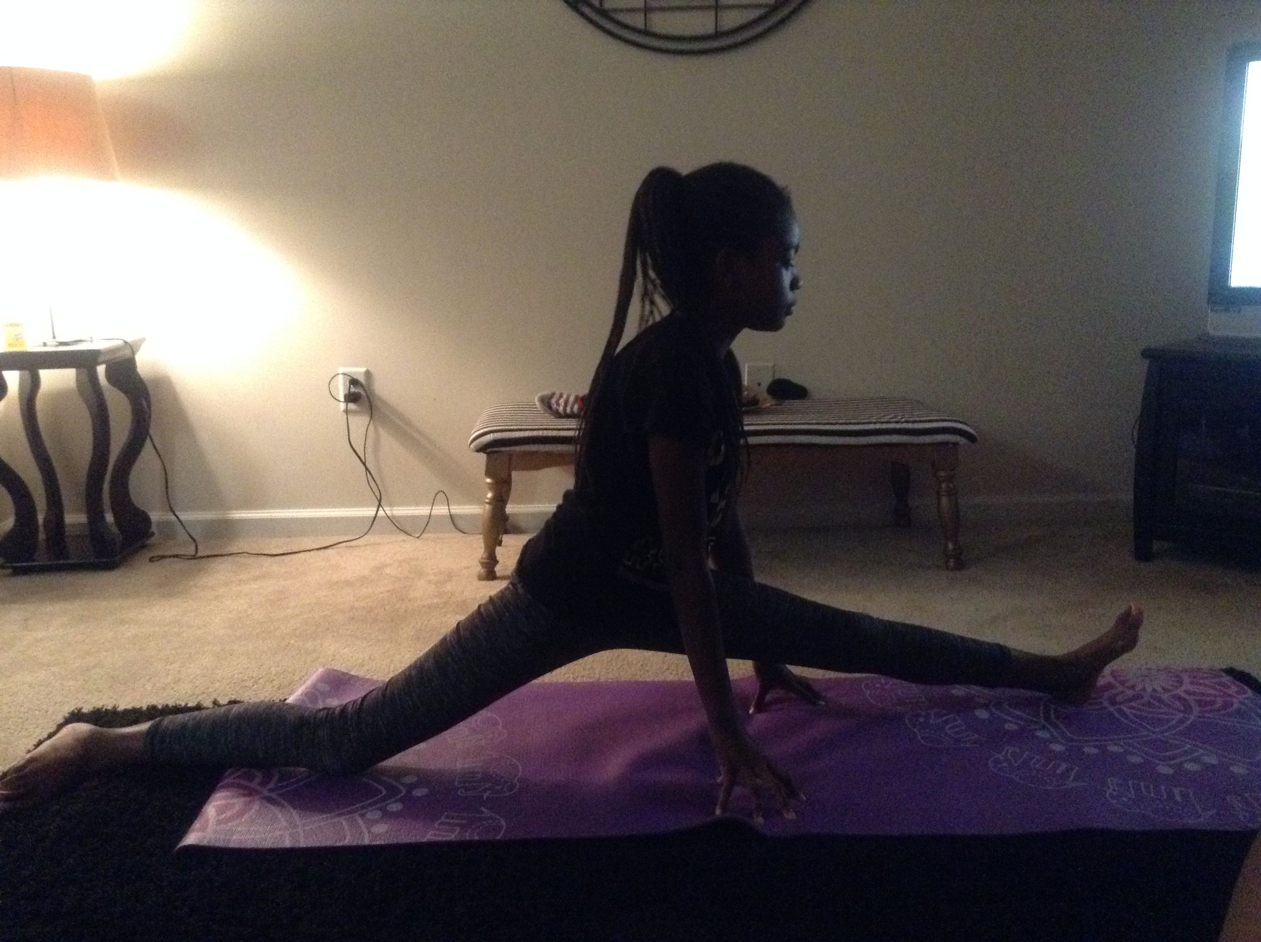 Day 9 of my splits journey😍#fitness#flexible   Fitness and Yoga