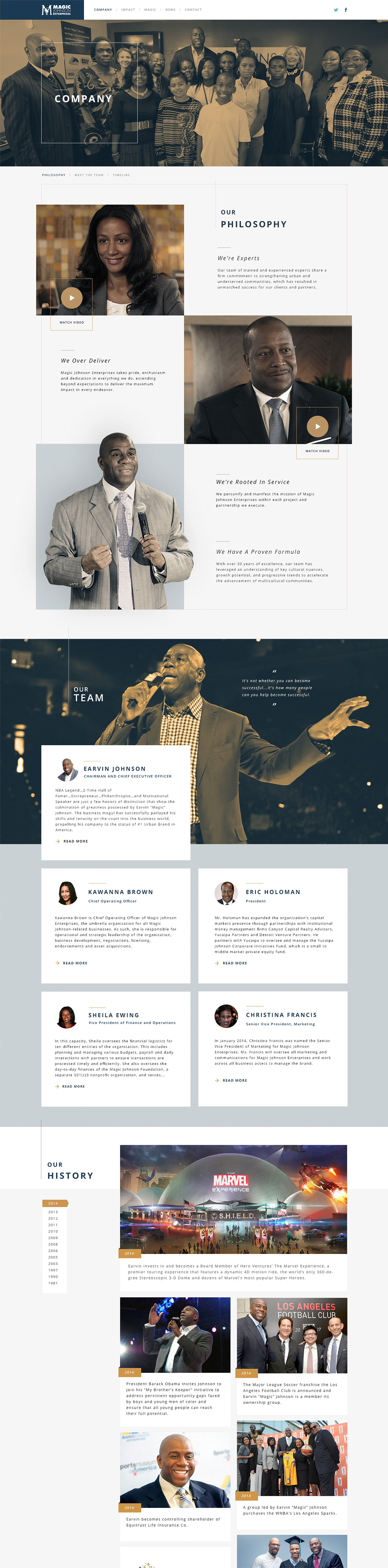 Site Design For Quantasy Earvin Magic Johnson Has Become The Most Powerful African American Man In Busi Web Design Trends Web Design Web Design Inspiration