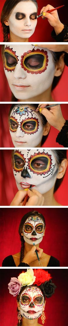 Halloween Face Paint Ideas Costumes, Makeup and Face paintings - face painting halloween ideas