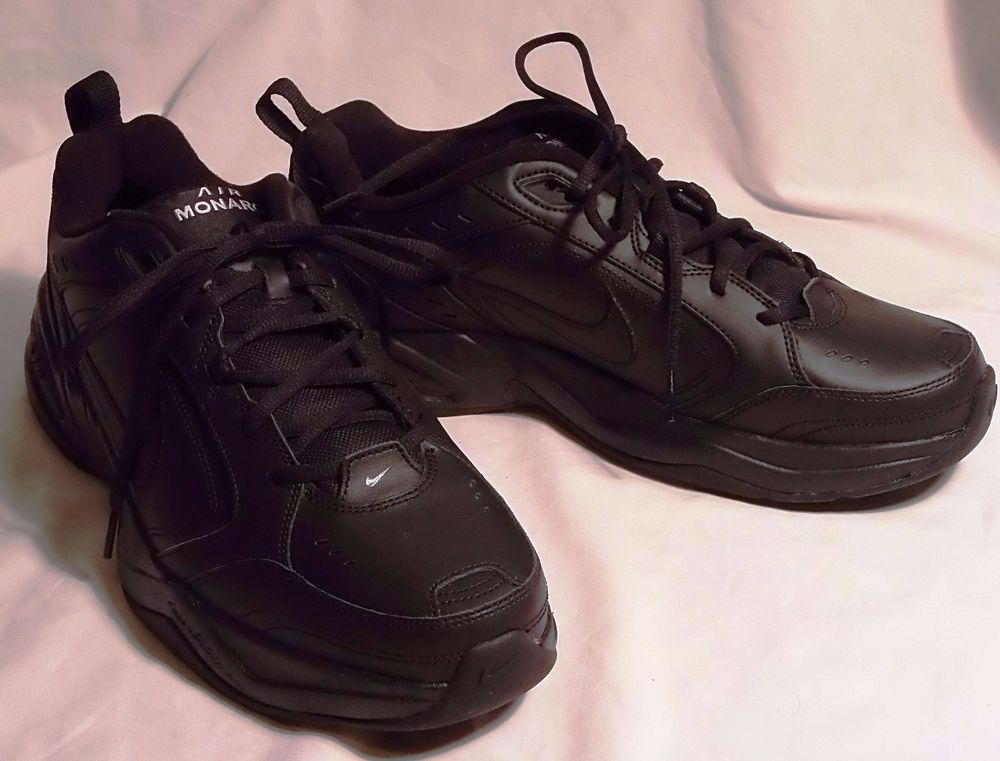 outlet store 3b8a6 b19a7 Men s NIKE MONARCH IV Black Leather Shoes L 12 R 13 ~ 2 Dif Sizes   415445-001  Nike  RunningCrossTraining