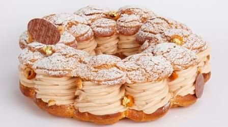 the thanksgiving dessert 2012 paris brest p te choux cream puff ring filled with hazelnut. Black Bedroom Furniture Sets. Home Design Ideas