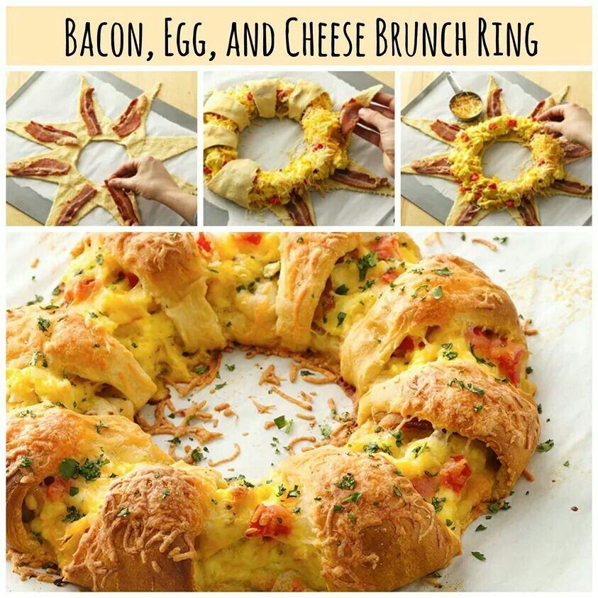 bacon,egg & cheese ring