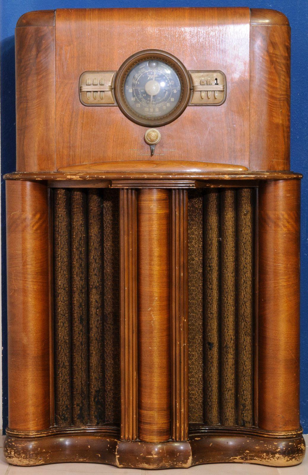 Zenith Console Floor Radio Model 11s474 1940s Vintage Tube Chassis Model 1103 Ebay Antique Radio Vintage Radio Retro Radios