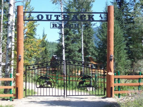 Ranch Entrance Ideas Farm, Farm Style Driveway Gates