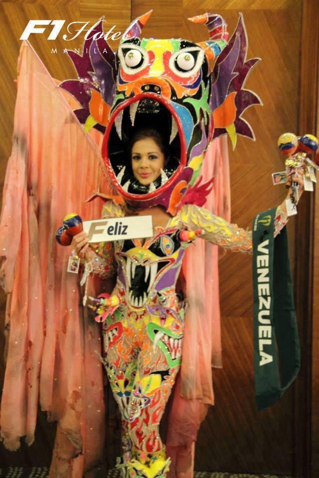 Traje Inspirado en los Diablos Danzantes de Yare - Alyz Henrich - para el Miss Earth 2013...