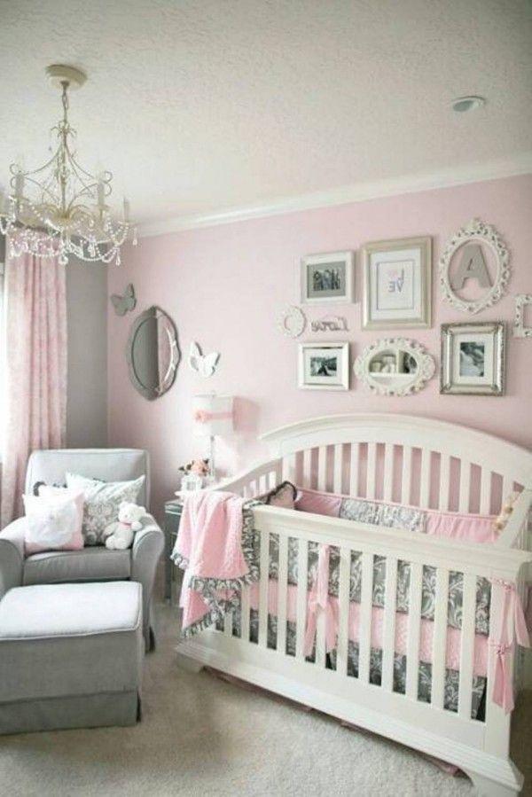 Pink Grey Baby Girl Bedroom Girl Nursery Pink Baby Girl Bedroom
