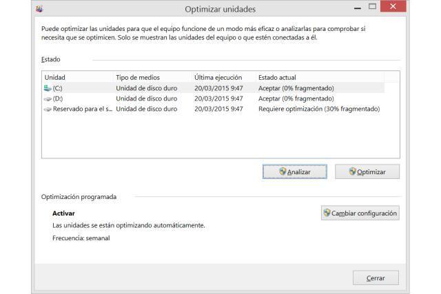 Desfragmentar El Disco Duro En Windows 8 U 8 1 Disco Duro Disco Unidad De Disco
