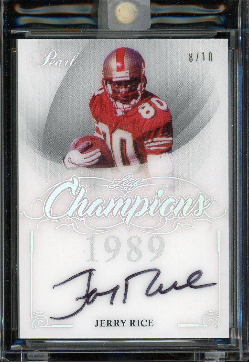 2017 leaf pearl champions jerry rice san francisco 49ers