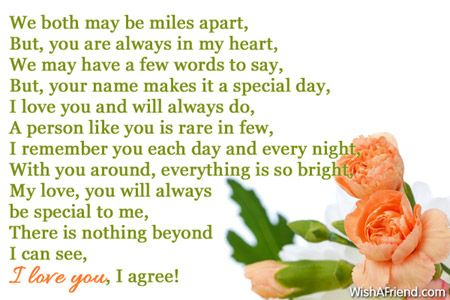 Special words for girlfriend