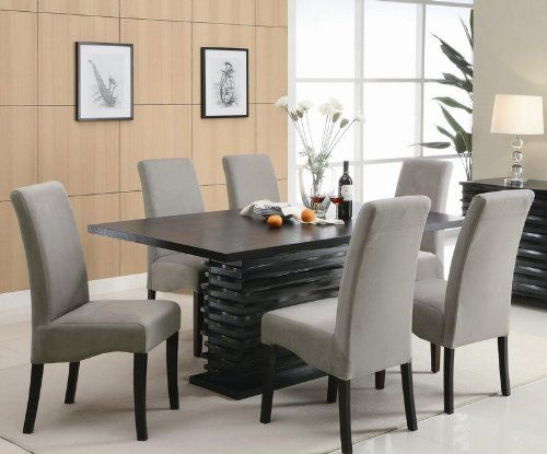 Stanton Contemporary 7Pc Black And Gray Dining Table Set Delectable Coaster Dining Room Furniture 2018