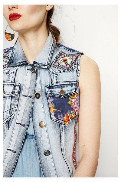 7a8f71247b0 Chaleco vaquero Exotic Jeans - Aloha Exotic   DESIGUAL   Chalecos ...