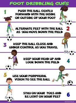 Pe Poster Foot Dribbling Cues Elementary Physical Education Health And Physical Education Physical Education Games