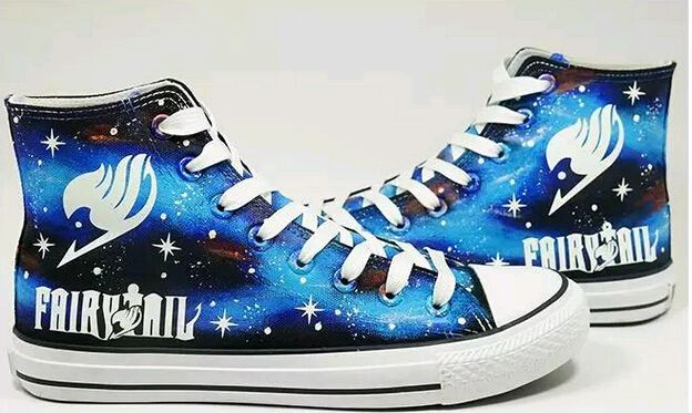 NEW Fairy Tail Guild Symbol Canvas Shoes Top Unisex Boots Anime Cosplay