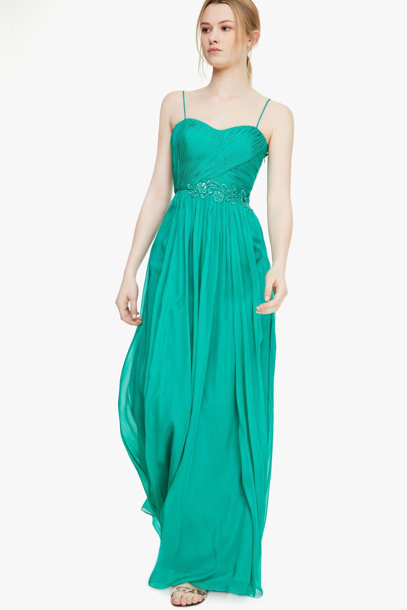 Vestido seda bordado - Vestidos | Adolfo Dominguez shop online ...
