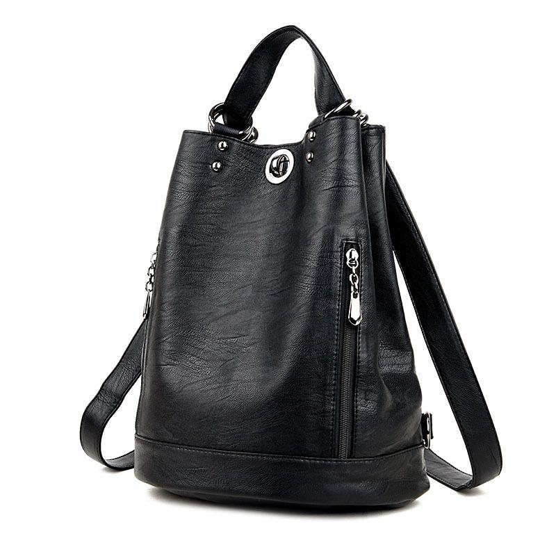 0c515798f648d Women Backpacks Leather Female Travel Shoulder Bag High Quality Women Bag  Fashion PU Leather Backpacks for Women School Bags