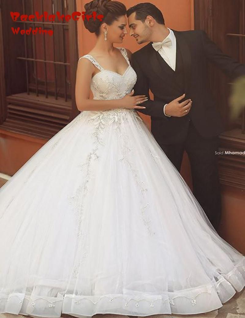 Tank top wedding dresses  Click to Buy ucuc ALine Wedding Dresses  Giltter Top Sweetheart