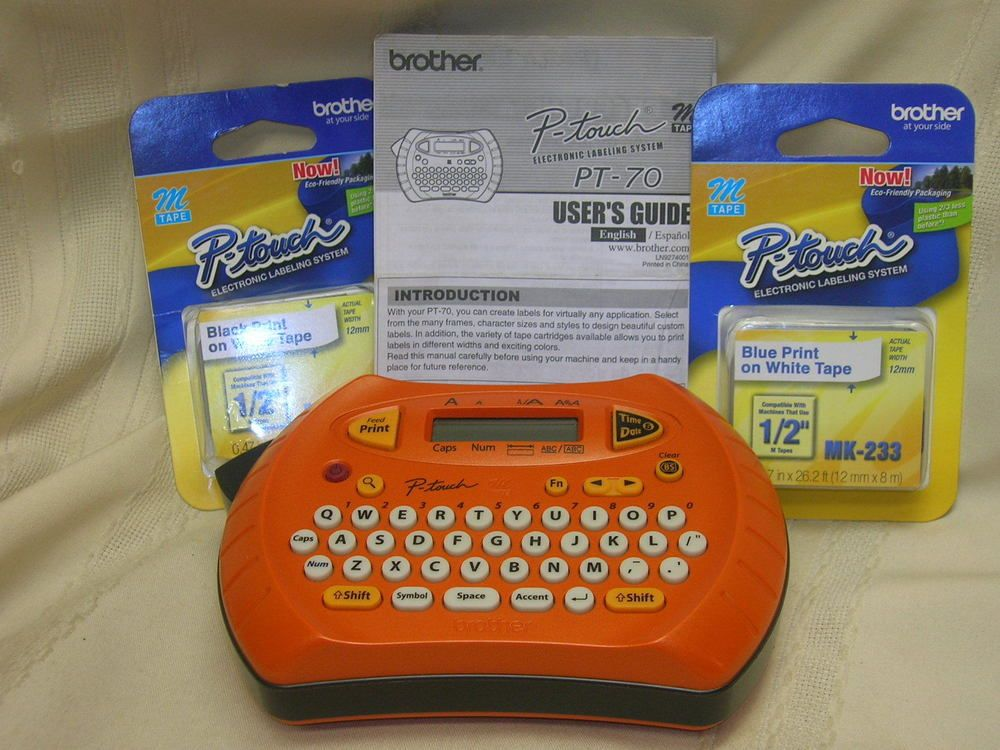 Brother Label Maker P Touch With 2 Packages P Touch Tape