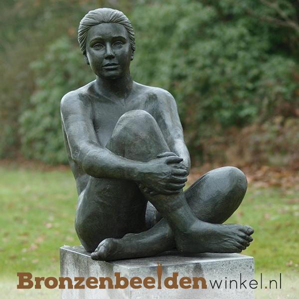 Tuinbeelden bronzen modern brons tuinbeeld beeld for Beeld tuin modern