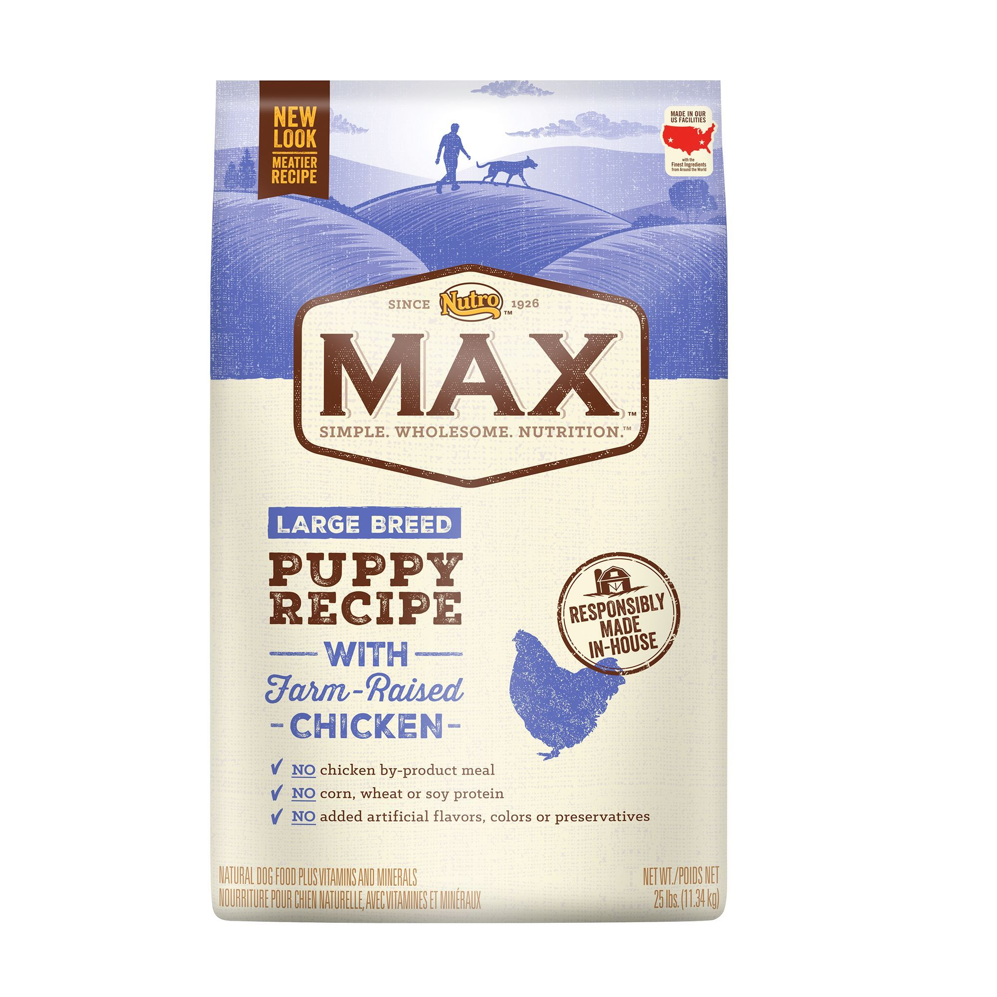 Nutro Max Large Breed Puppy Food Natural Chicken Size 25 Lb