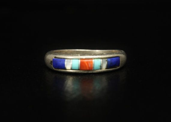 Carolyn Pollack Stack Ring Turquoise Coral Lapis Size by june2six