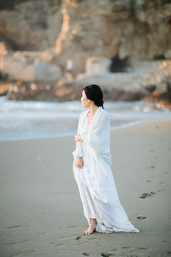 Elegant Beach Engagement Session - Once Wed