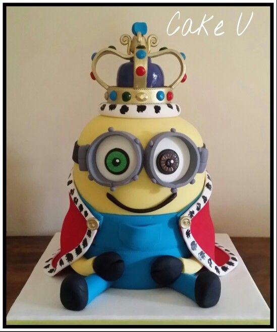 King Bob Minion Cake fun cakes Pinterest Minion cakes and Cake