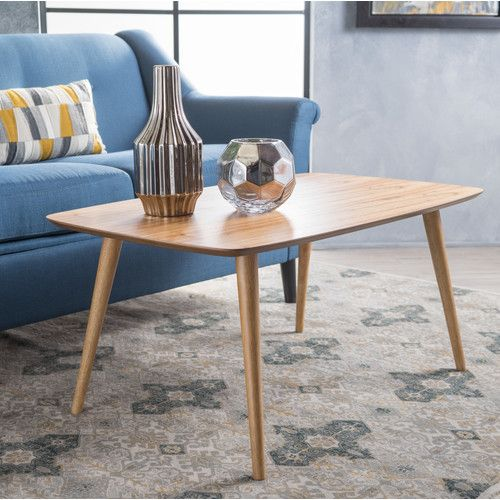 Wayfair Mid Century Coffee Table.Elizabeth Coffee Table Apartment Decor Natural Wood Coffee Table