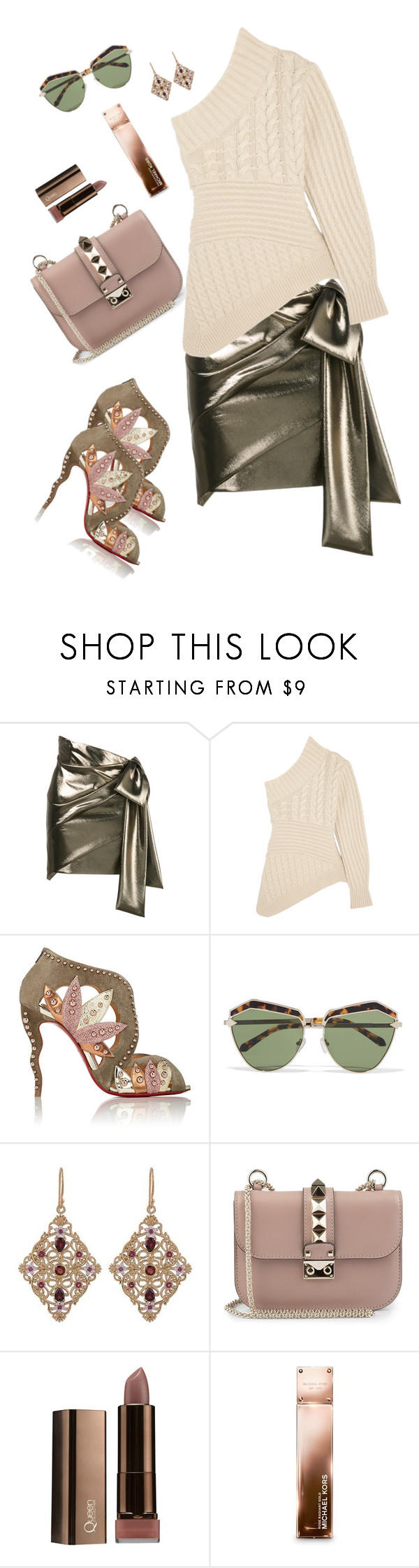 """""""Day10 set"""" by natalia-andre-morin ❤ liked on Polyvore featuring Yves Saint Laurent, Burberry, Christian Louboutin, Karen Walker, NOVICA, Valentino and Michael Kors"""