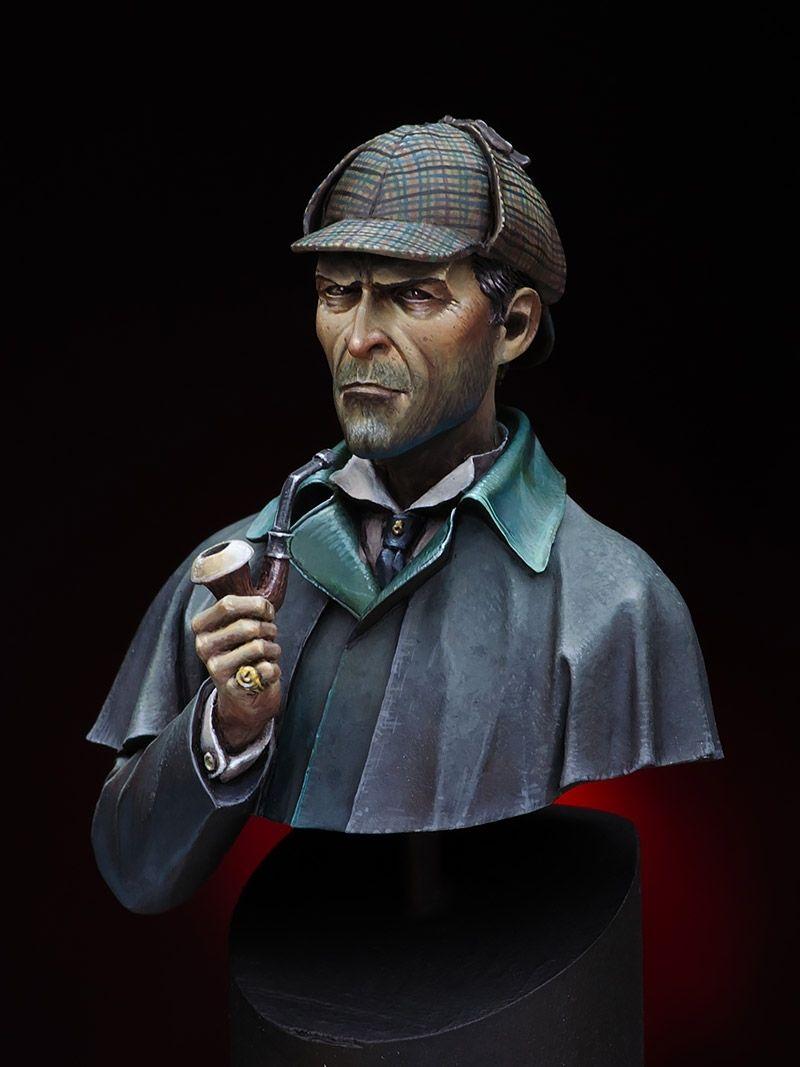 Sherlock Holmes By Raffaele Picca Putty Paint Sherlock Sherlock Holmes Holmes