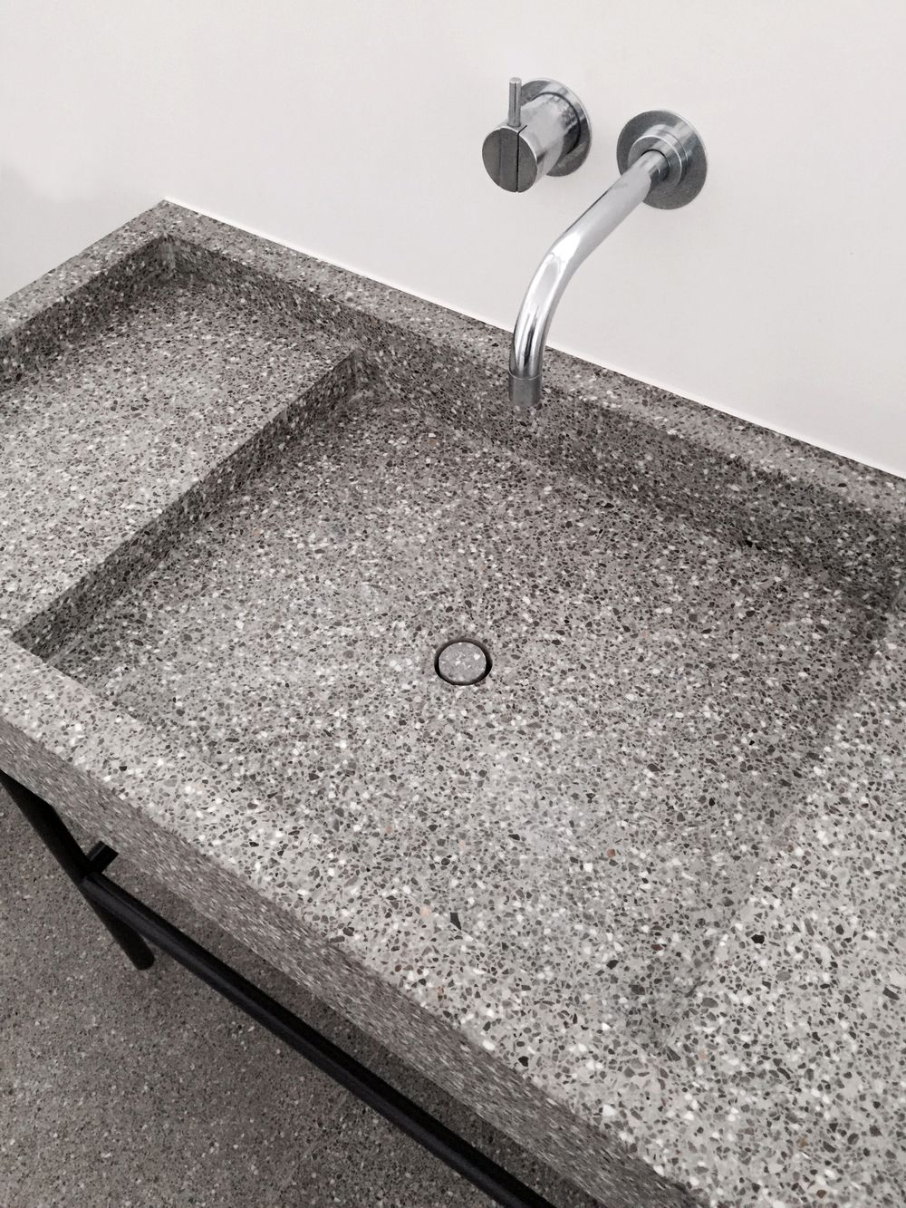 wash basin in terrazzo by marc merkx interior designer love this so much