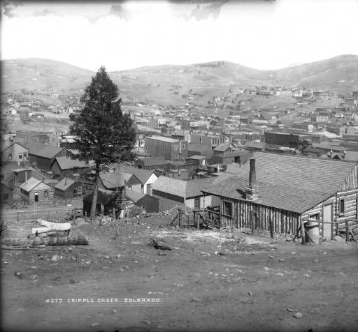 Colorado Springs Shooting Range: View Of The Mining Town Of Cripple Creek (Teller County