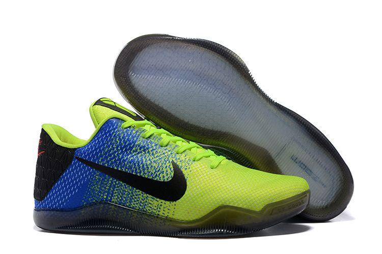 Cheap Nike Kobe 11 Shoes Black Blue Green