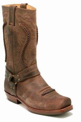 Sancho Boots 5859 Showoff braun | Western | Bikerstiefel